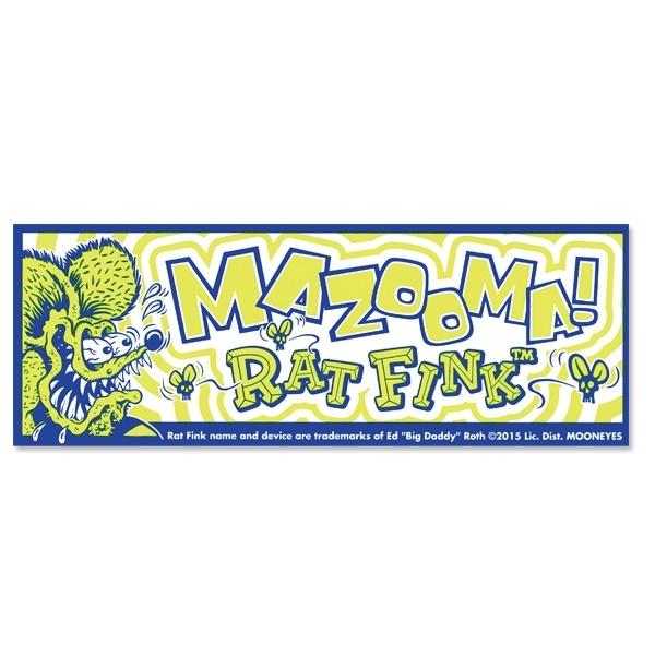 Rat Fink ラットフィンク バンパーステッカー mazooma デカール シール フィルム製 ステッカー mooneyes ムーンアイズ マゾーマ_画像4