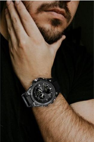 メンズ 腕時計 スポーツ 30M防水 エレクトロニクス クロック デジタル アウトドア アーミー ミリタリー カジュアル LED s0055_画像10