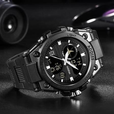 メンズ 腕時計 スポーツ 30M防水 エレクトロニクス クロック デジタル アウトドア アーミー ミリタリー カジュアル LED s0055_画像2