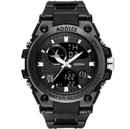 メンズ 腕時計 スポーツ 30M防水 エレクトロニクス クロック デジタル アウトドア アーミー ミリタリー カジュアル LED s0055_画像1