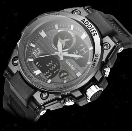 メンズ 腕時計 スポーツ 30M防水 エレクトロニクス クロック デジタル アウトドア アーミー ミリタリー カジュアル LED s0055_画像5