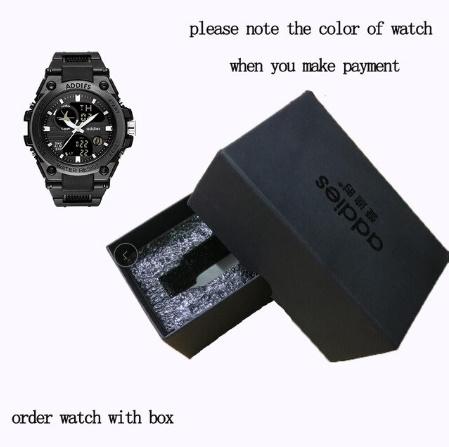 メンズ 腕時計 スポーツ 30M防水 エレクトロニクス クロック デジタル アウトドア アーミー ミリタリー カジュアル LED s0055_GiftBOX(別売り)