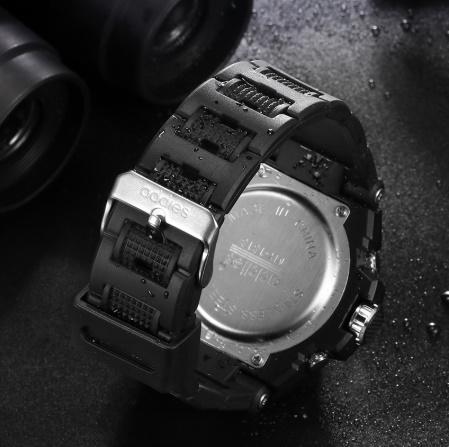 メンズ 腕時計 スポーツ 30M防水 エレクトロニクス クロック デジタル アウトドア アーミー ミリタリー カジュアル LED s0055_画像3