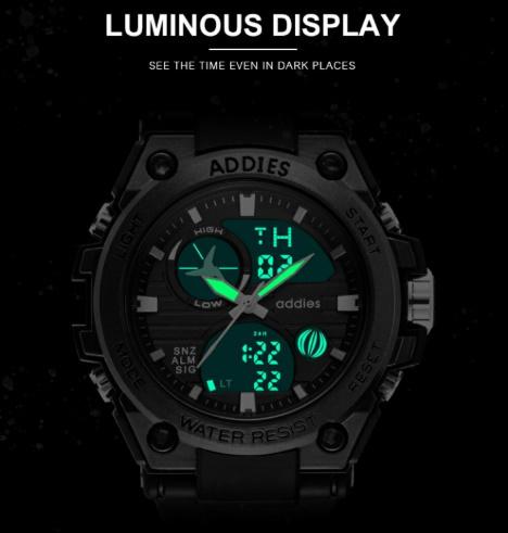 メンズ 腕時計 スポーツ 30M防水 エレクトロニクス クロック デジタル アウトドア アーミー ミリタリー カジュアル LED s0055_画像8