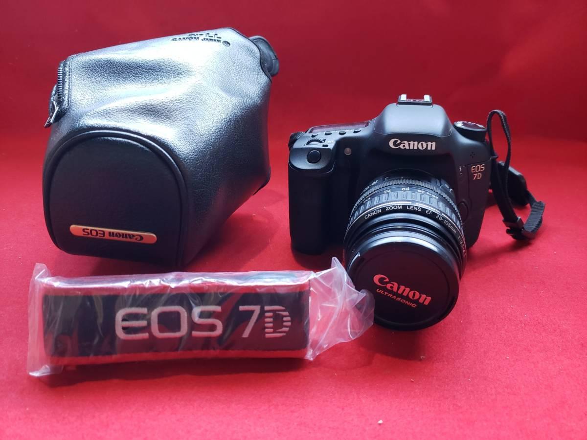 【消費稅なし】EOS7D/キャノン/Canon/デジタル一眼レフカメラ/レンズセット/221a