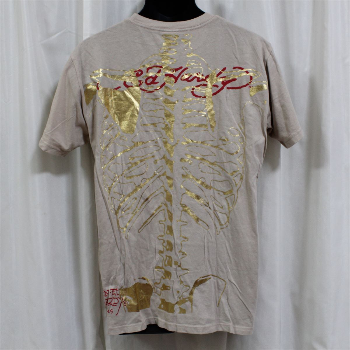 エドハーディー ED HARDY メンズ半袖Tシャツ Lサイズ カーキ 新品_画像4