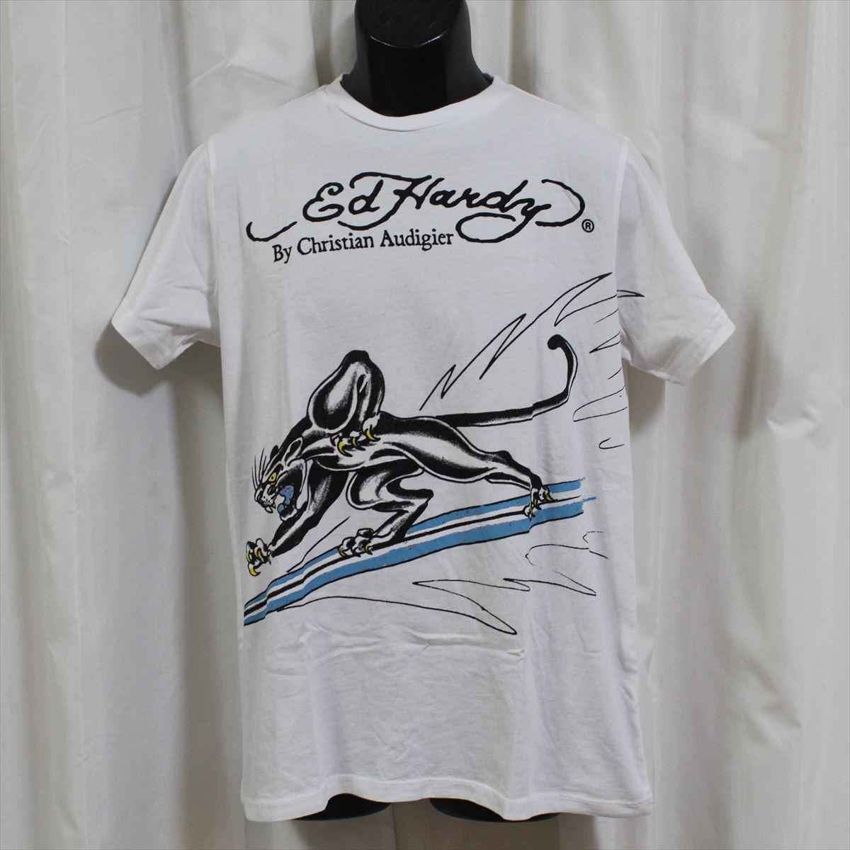 エドハーディー ED HARDY メンズ半袖Tシャツ Sサイズ ホワイト NO2 新品_画像1