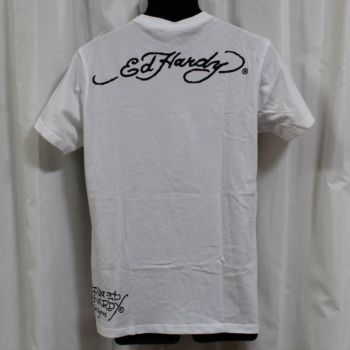 エドハーディー ED HARDY メンズ半袖Tシャツ Sサイズ ホワイト NO2 新品_画像3