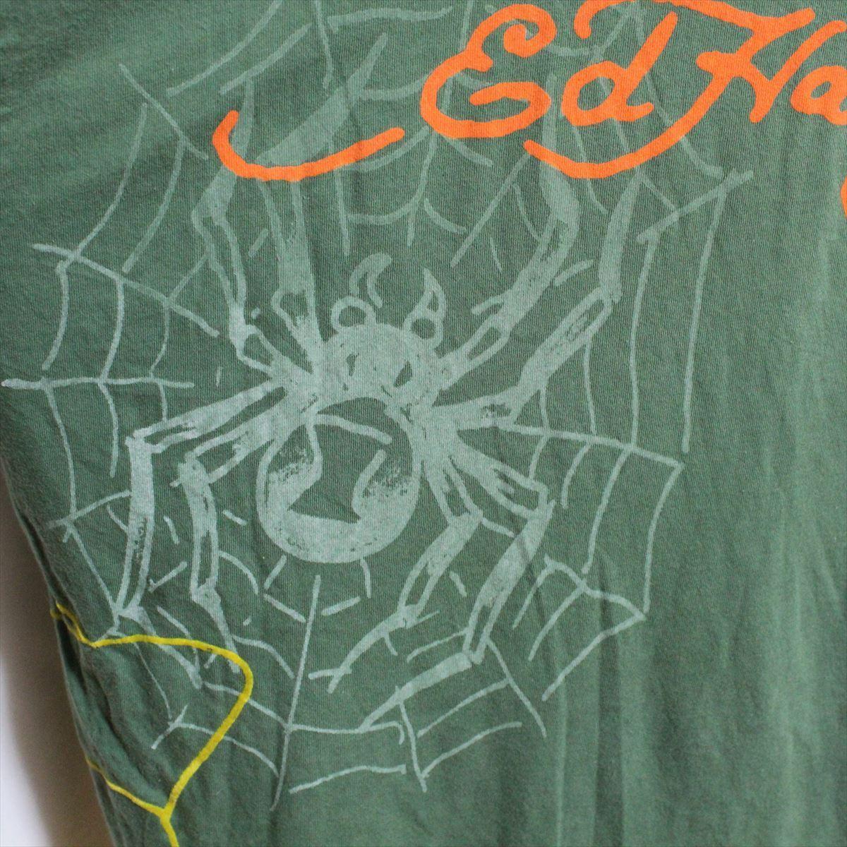 エドハーディー ED HARDY メンズ長袖Tシャツ グリーン Sサイズ NO5 新品_画像5