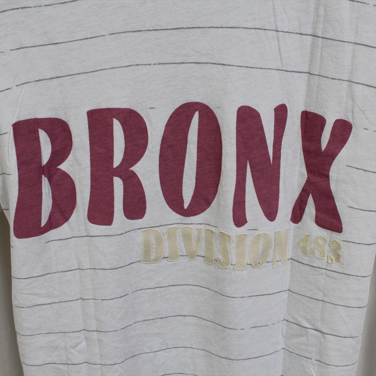 エドハーディー ED HARDY メンズ半袖Tシャツ ボーダー柄 Lサイズ ホワイト NO9 新品_画像4