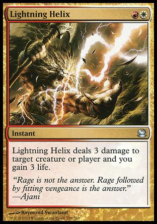 え金 稲妻のらせん 1枚(1枚在庫s 英 良品 MMA)/Lightning Helix(MTG /モダンマスターズ/Modern Masters/モダマス/)_画像1
