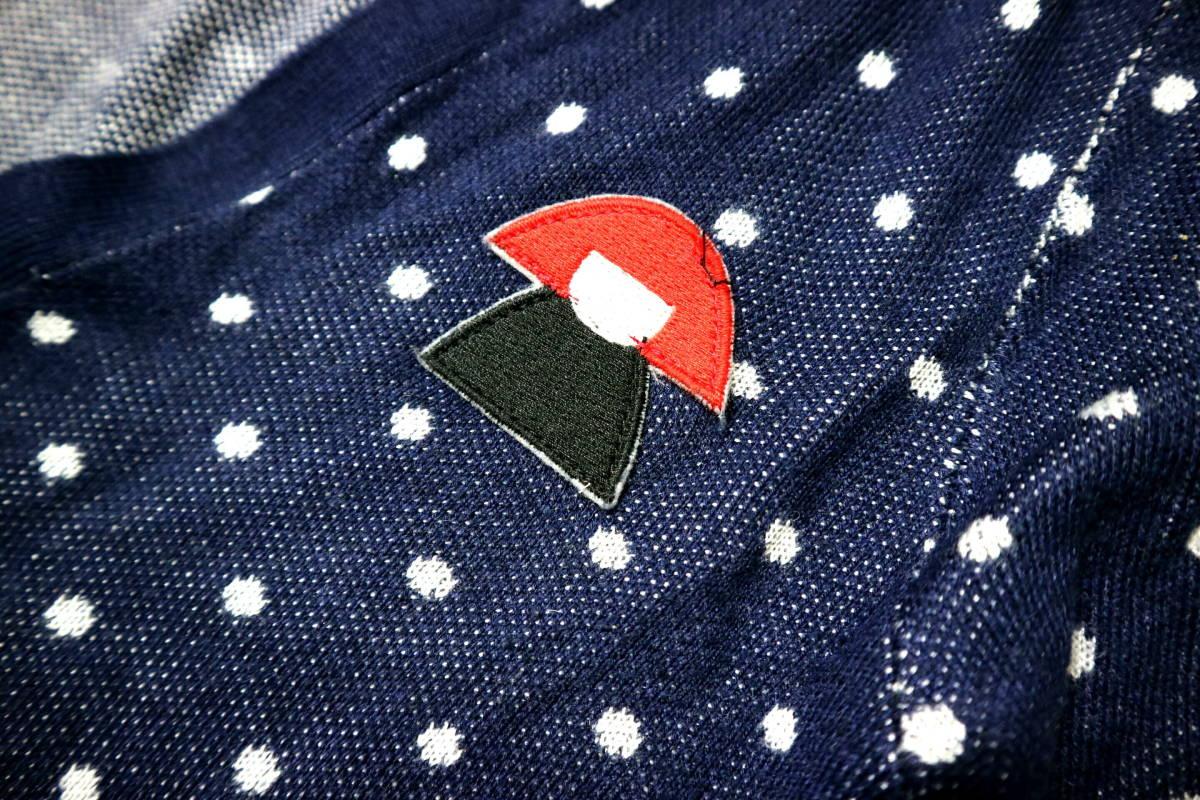 お洒落!◆フランス製 SONIA BY SONIA RYKIEL ソニアリキエル 綿100地 カーディガン◆女性Sサイズ_赤に付いた黒糸は撮影後に取り除きました。