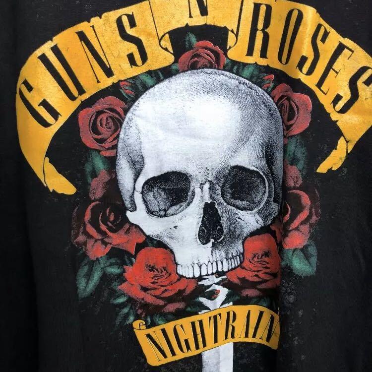 GUNS N' ROSES Tシャツ NIGHTRAIN ガンズアンドローゼズ Tee BLACK ナイトレイン_画像6