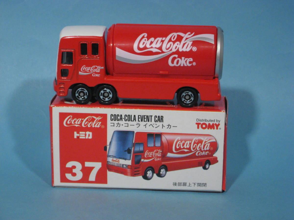 トミー トミカ 赤箱 No37-4 コカ・コーラ イベントカー 中国製 TOMY TOMICA No37-4 COCA-COLA EVENT CAR Red Box (中古・新同美品)_画像1