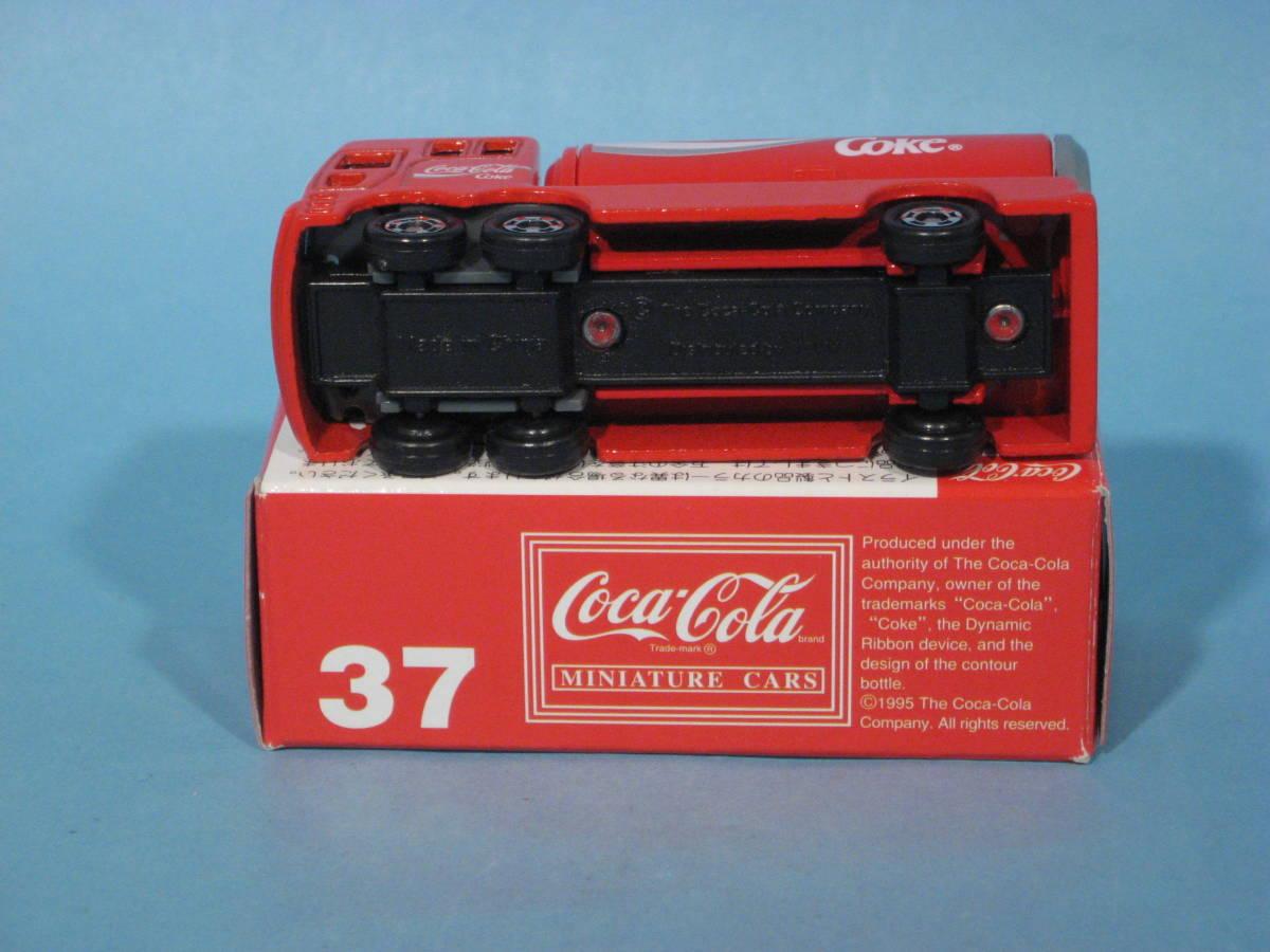 トミー トミカ 赤箱 No37-4 コカ・コーラ イベントカー 中国製 TOMY TOMICA No37-4 COCA-COLA EVENT CAR Red Box (中古・新同美品)_画像5
