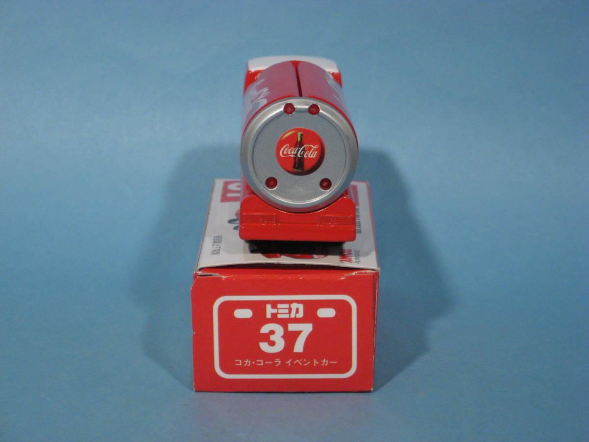 トミー トミカ 赤箱 No37-4 コカ・コーラ イベントカー 中国製 TOMY TOMICA No37-4 COCA-COLA EVENT CAR Red Box (中古・新同美品)_画像4