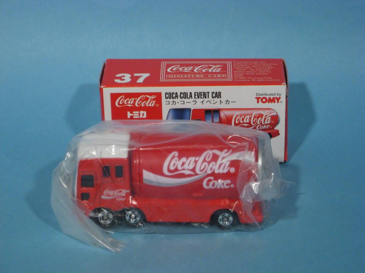 トミー トミカ 赤箱 No37-4 コカ・コーラ イベントカー 中国製 TOMY TOMICA No37-4 COCA-COLA EVENT CAR Red Box (中古・新同美品)_中袋も付いています。