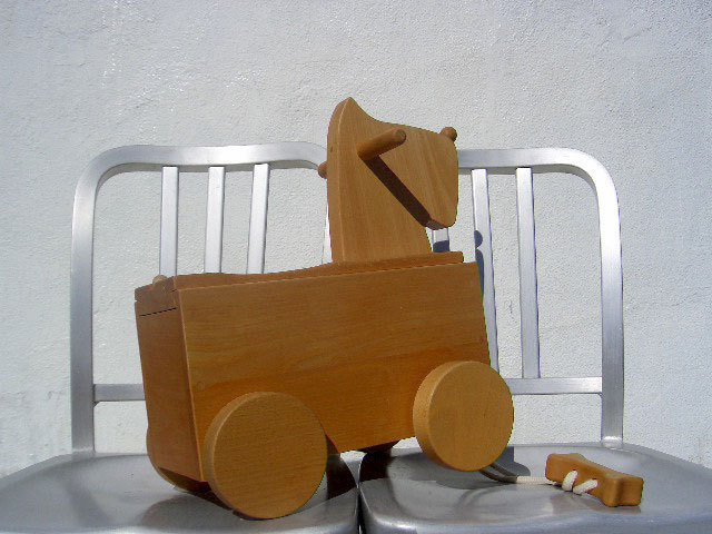 ▼△■ Oak Village 飛騨の匠 オークヴィレッジ 素敵な積み木 癒やしの コロボックス イヌ 天然木 乗ってもへっちゃら知育玩具 廃盤 希少♪_画像2