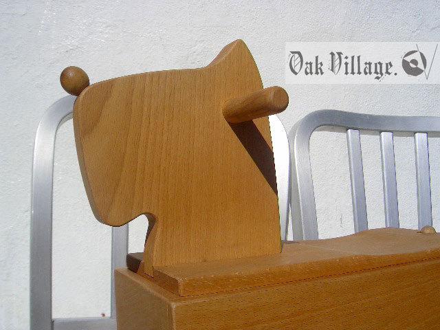 ▼△■ Oak Village 飛騨の匠 オークヴィレッジ 素敵な積み木 癒やしの コロボックス イヌ 天然木 乗ってもへっちゃら知育玩具 廃盤 希少♪_画像4