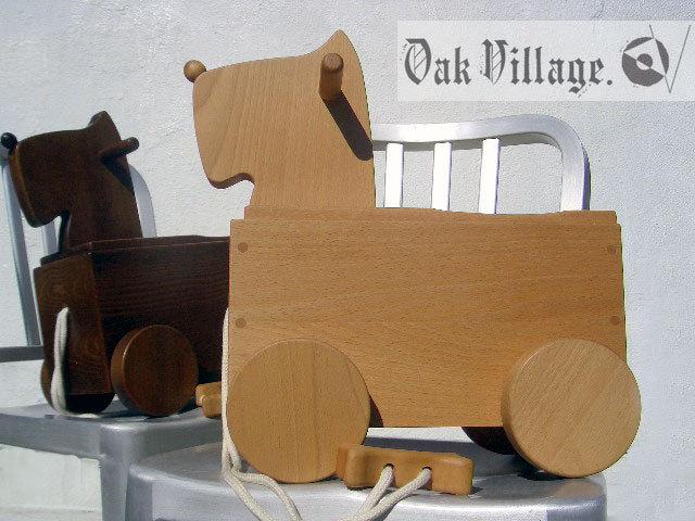 ▼△■ Oak Village 飛騨の匠 オークヴィレッジ 素敵な積み木 癒やしの コロボックス イヌ 天然木 乗ってもへっちゃら知育玩具 廃盤 希少♪_画像1