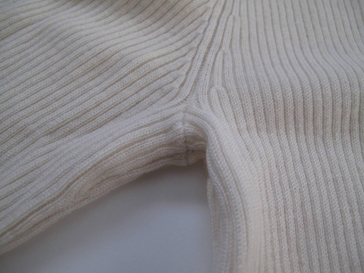 **無印良品 ウール リブ タートルネック長袖セーター ニット アイボリー レディース L_画像8