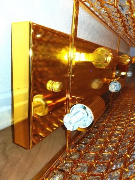 1円からLED電球ナイアガラ80cmゴールドシャンデリアキング観光サロンバス室内灯デコトラルームランプ金華山ライト男の城トラック内装_画像4
