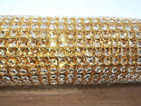 1円からLED電球ナイアガラ80cmゴールドシャンデリアキング観光サロンバス室内灯デコトラルームランプ金華山ライト男の城トラック内装_画像3