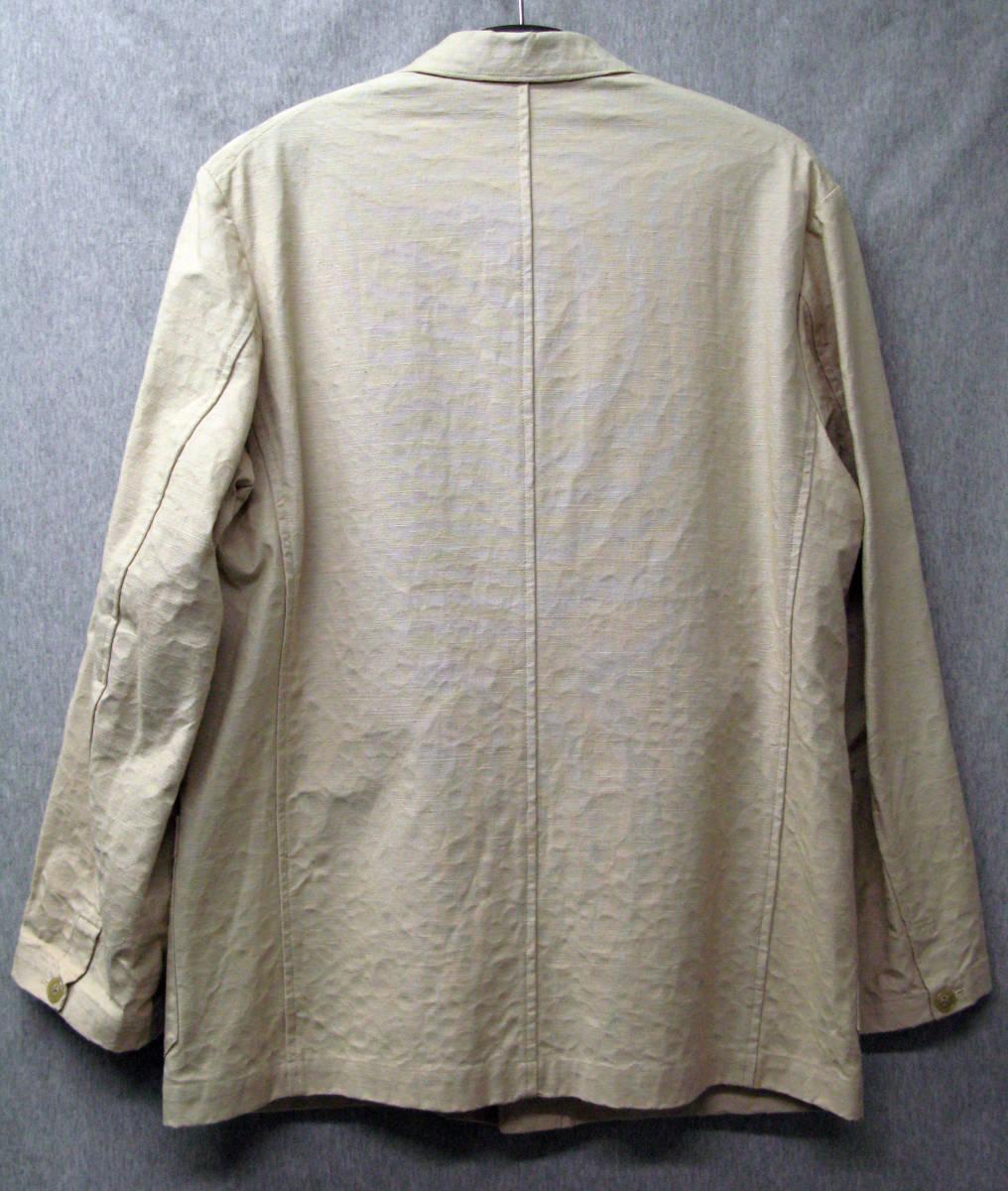 ワイズ フォーメン:裏プリント 綿麻混紡 ジャケット ( 麻ジャケット 春夏ジャケット Yohji Yamamoto linen jacket_画像2