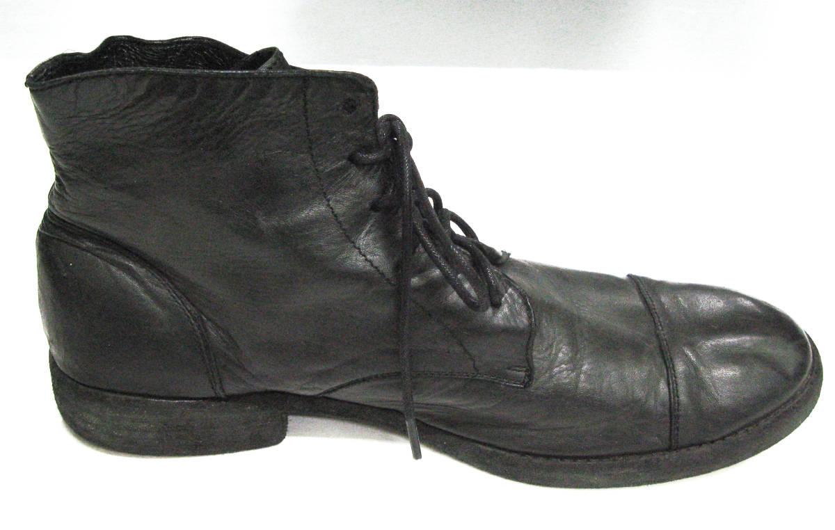 ワイズ フォーメン:レザー ブーツ ( 靴 革靴 本革 シューズ ショートブーツ Yohji Yamamoto leather boots shoes_画像3