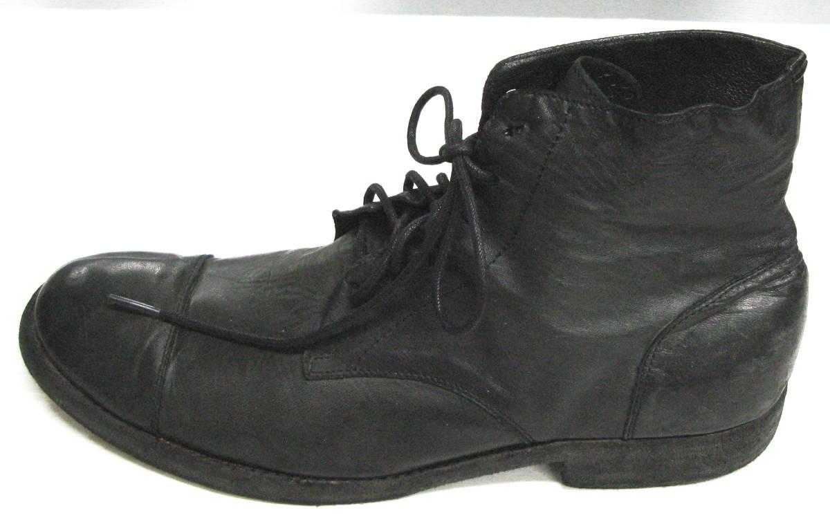 ワイズ フォーメン:レザー ブーツ ( 靴 革靴 本革 シューズ ショートブーツ Yohji Yamamoto leather boots shoes_画像2