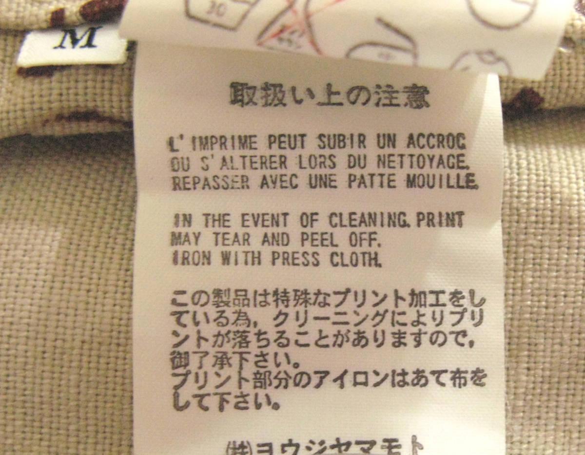 ワイズ フォーメン:裏プリント 綿麻混紡 ジャケット ( 麻ジャケット 春夏ジャケット Yohji Yamamoto linen jacket_画像5
