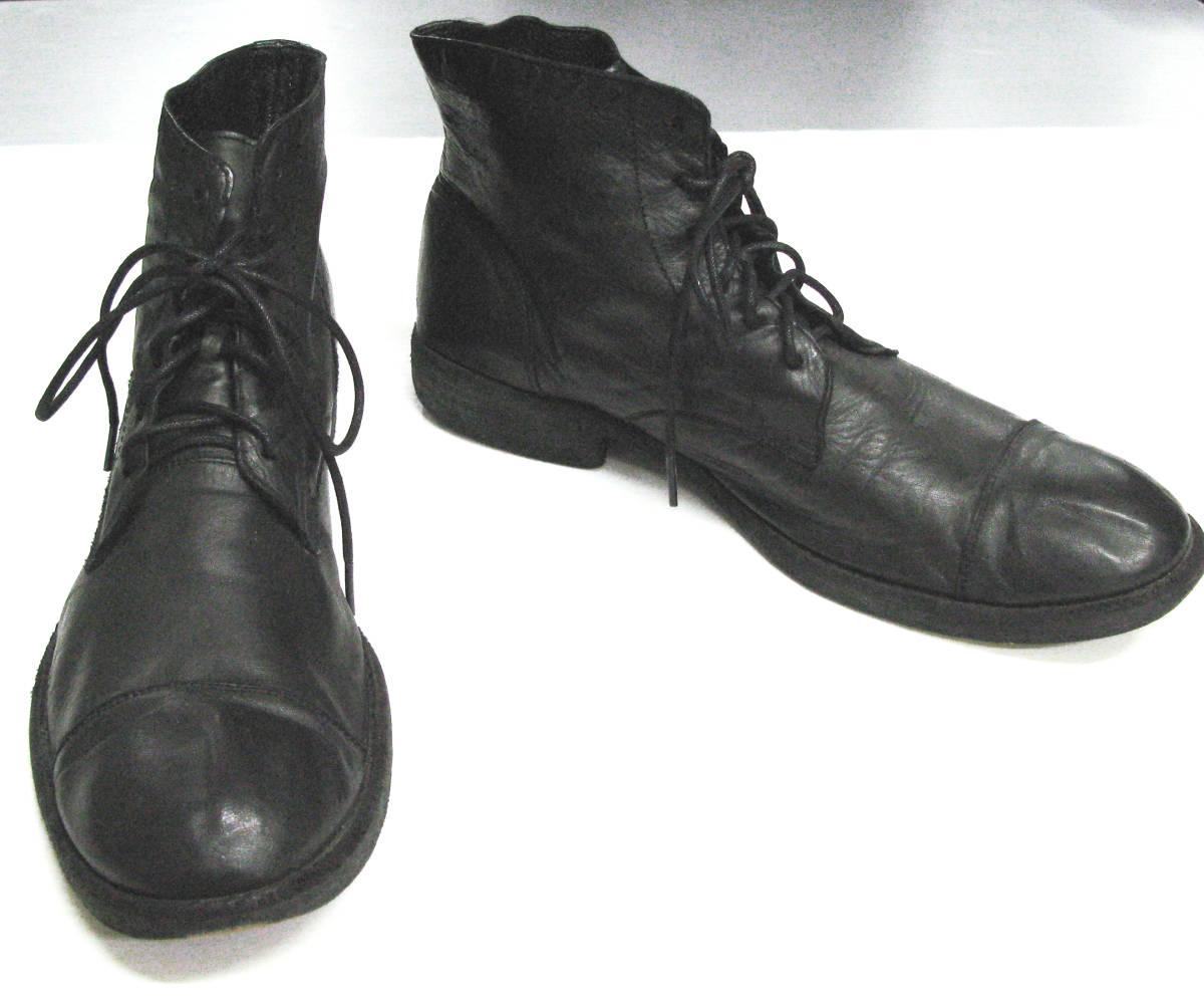 ワイズ フォーメン:レザー ブーツ ( 靴 革靴 本革 シューズ ショートブーツ Yohji Yamamoto leather boots shoes_画像1