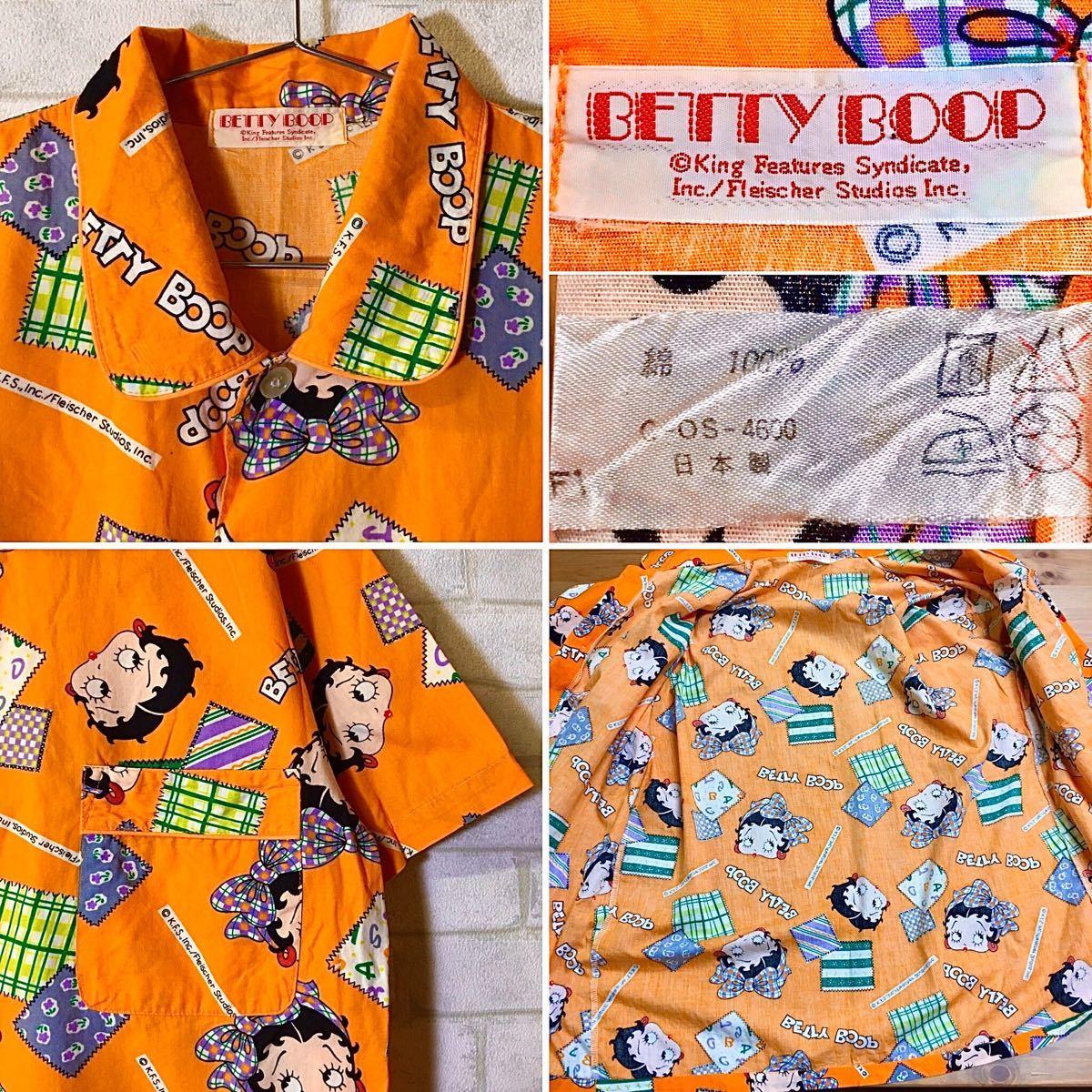 【BETTY BOOP】ベティ・ブープ 総柄シャツ /フリーサイズ