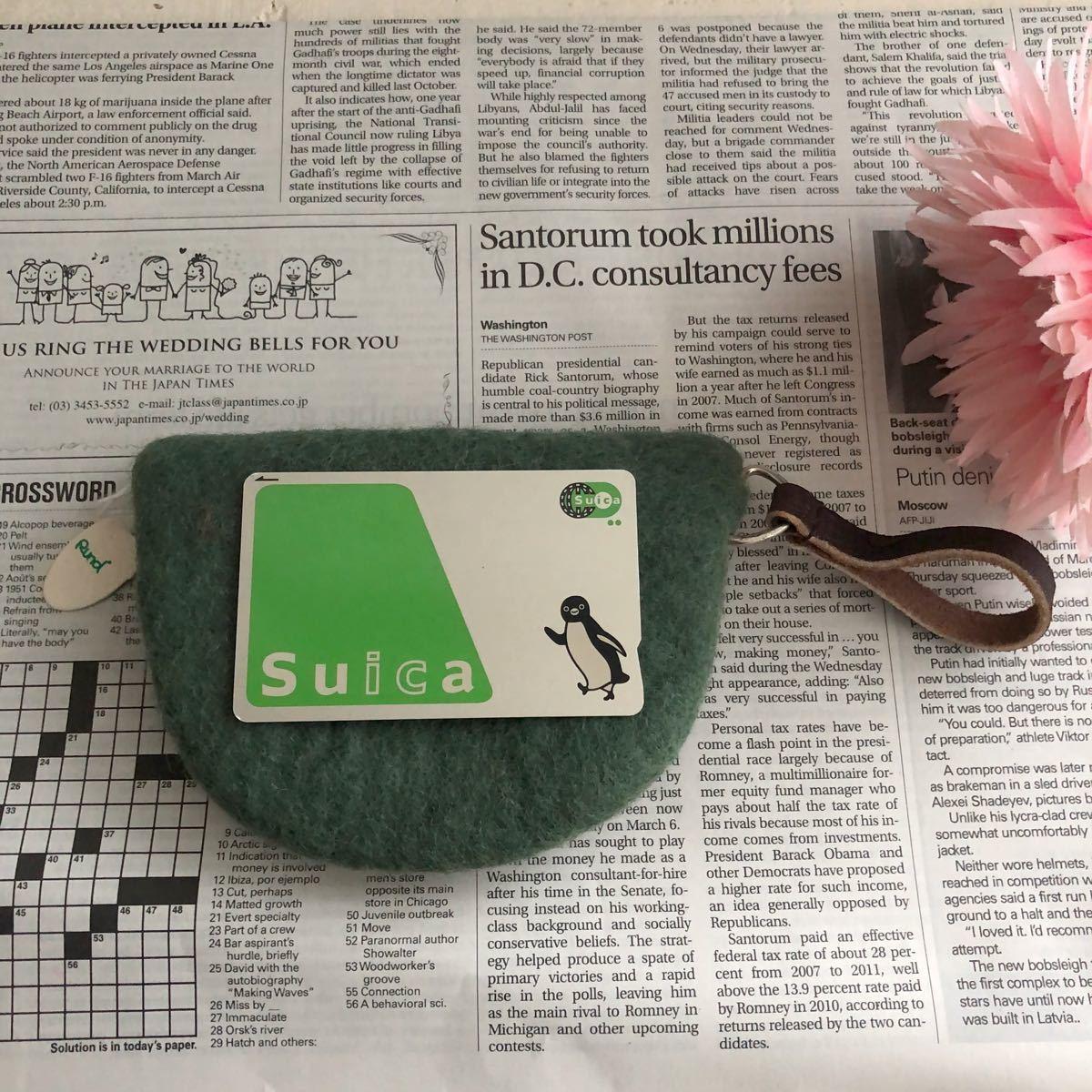 SALE! 新品 オリジナル 羊毛 フェルト カードポーチ ハンドメイド