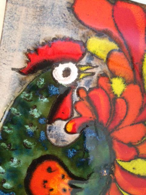 ドイツ RUSCHA 陶板 ウォールデコ アート ビンテージ インテリア fat lava_画像3