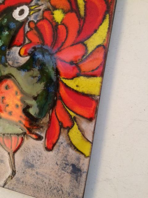 ドイツ RUSCHA 陶板 ウォールデコ アート ビンテージ インテリア fat lava_画像4