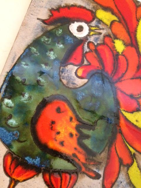 ドイツ RUSCHA 陶板 ウォールデコ アート ビンテージ インテリア fat lava_画像6