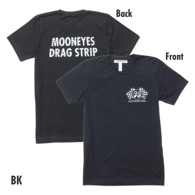 送料200円 MOON Drag Strip Tシャツ MOONEYES ムーンアイズ [TM789] Sサイズ BK_画像1
