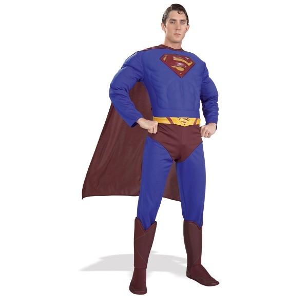 コスプレ衣装 レアなデッドストック スーパーマン リターンズ マッスルコスチューム Mサイズ 胸のマークが立体の初期バージョン!