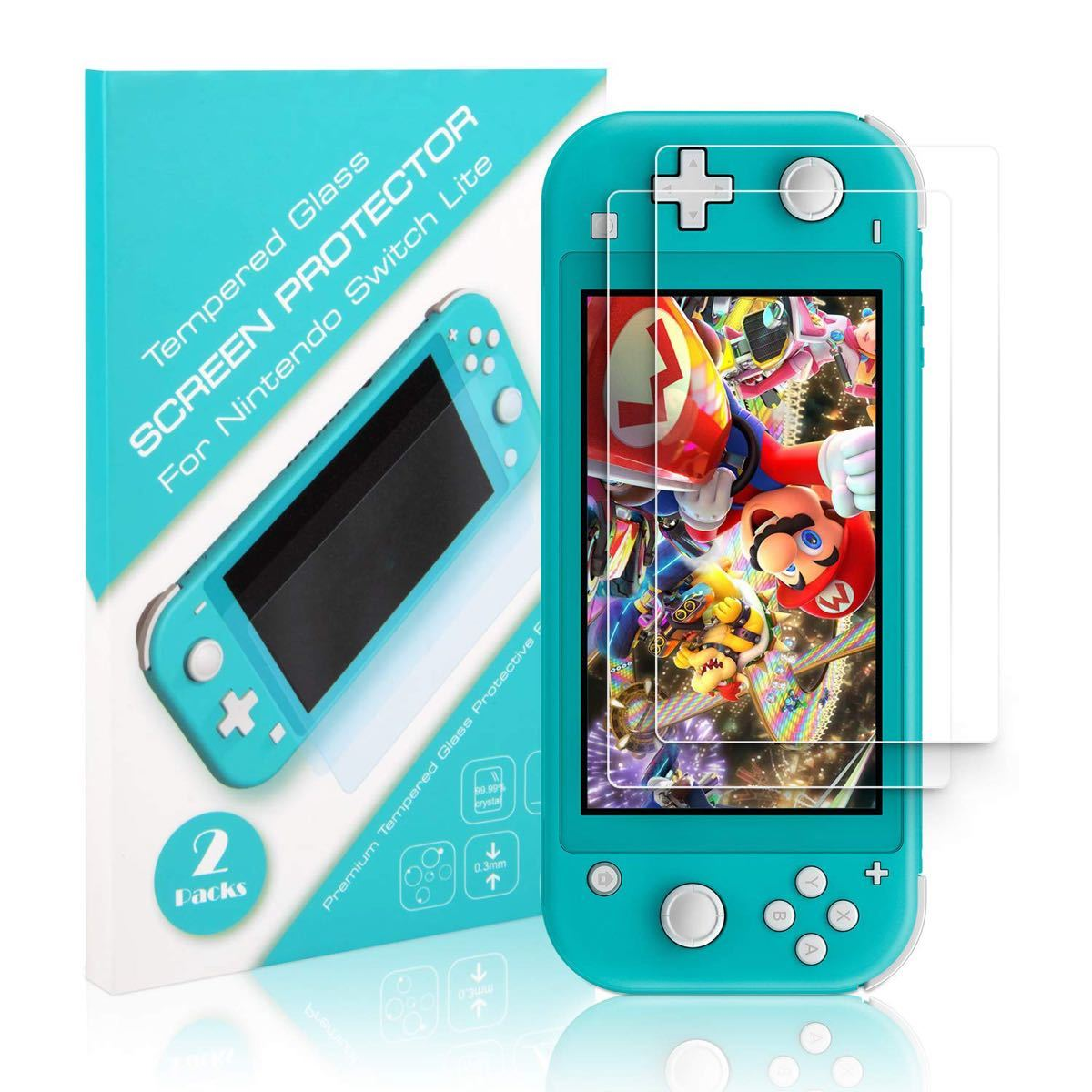 Nintendo Switch Lite ガラスフィルム2枚入り#226