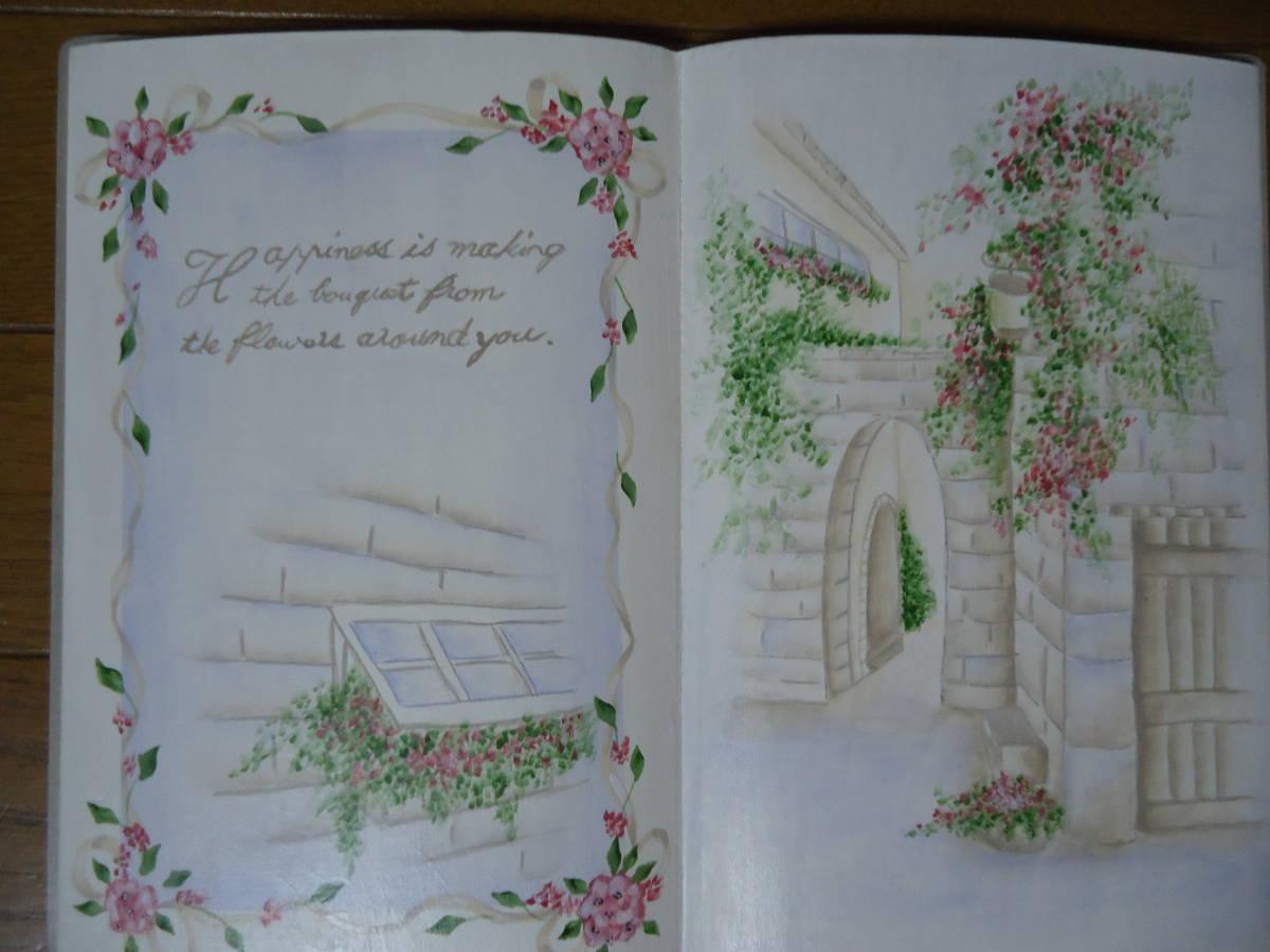 ♪作品整理♪トールペイント♪ブック型♪薔薇♪完成品♪_画像2