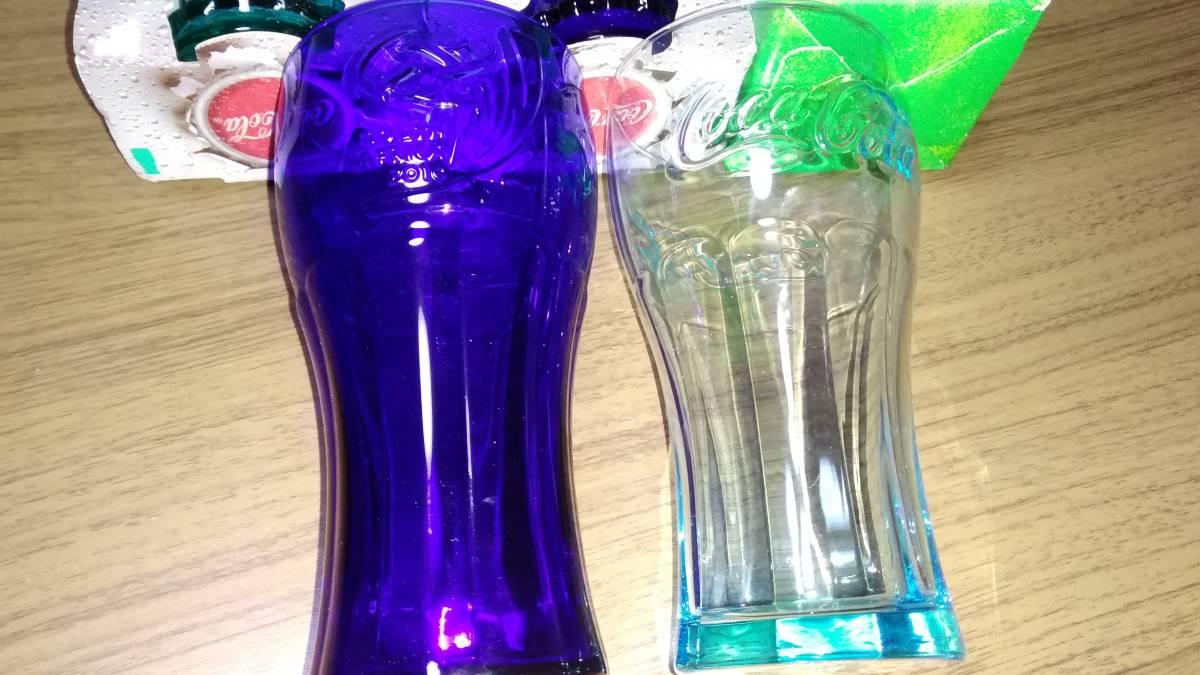 ☆2013 MAC COCA COLA(コカコーラ) CROWN GLASSx4セット+GREEN LABEL タンブラー☆_画像3