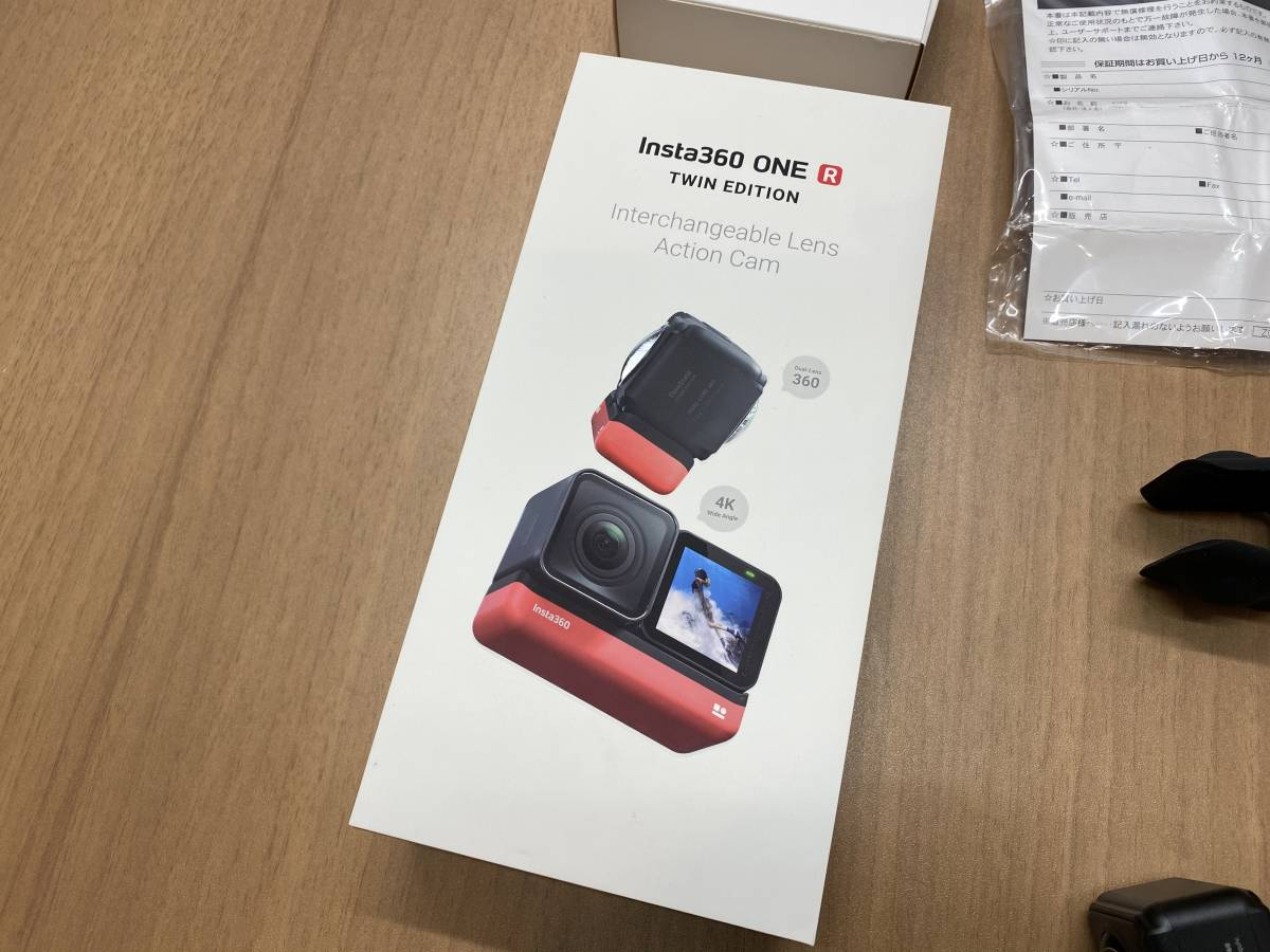 【4Kと360度がセット】insta360 one R TWIN EDITION ★正規購入品:美品:保証書あり
