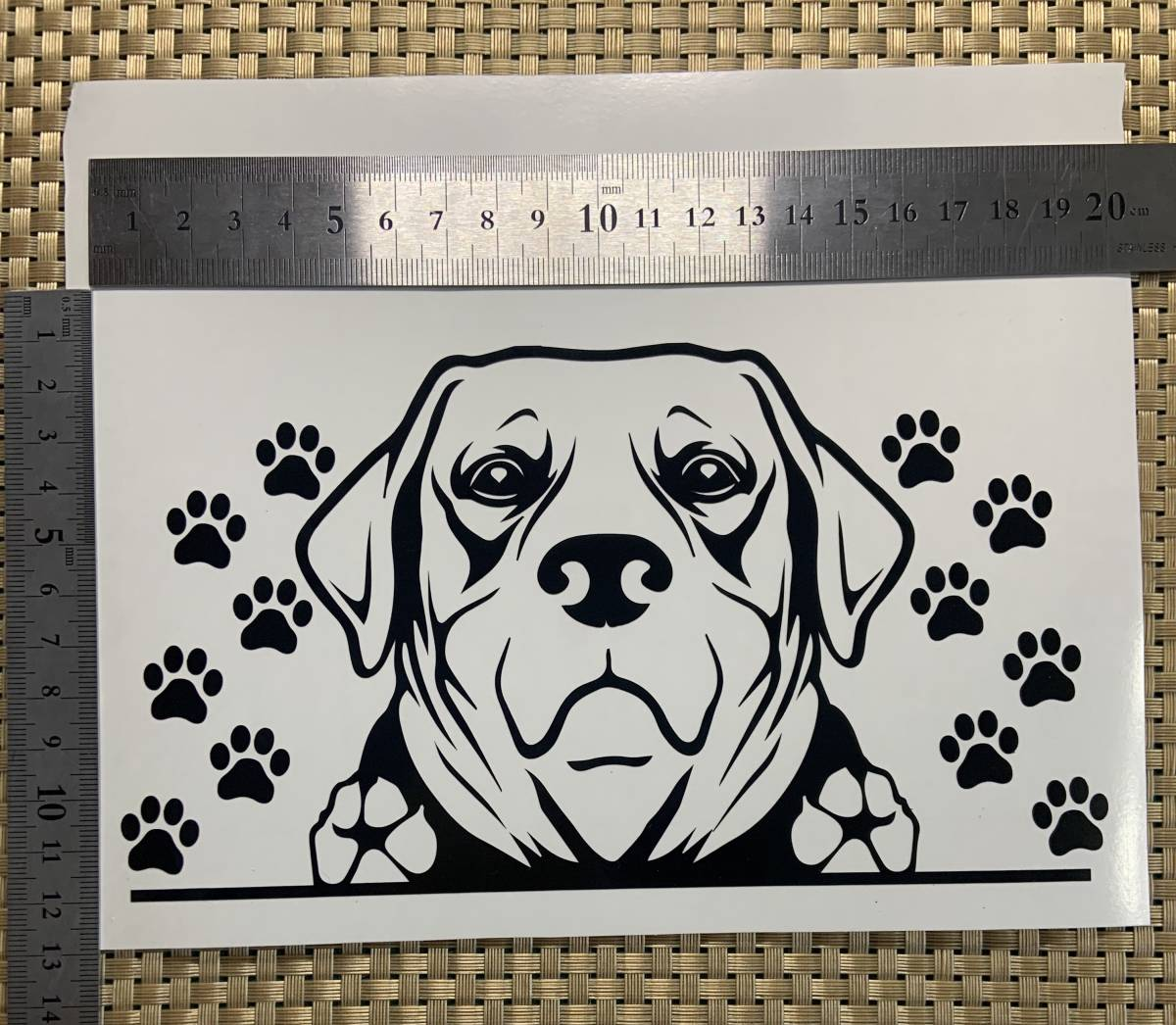 オリジナル カッティングステッカー シール デカール 犬 dog  DOG IN CAR レトリバー_画像1