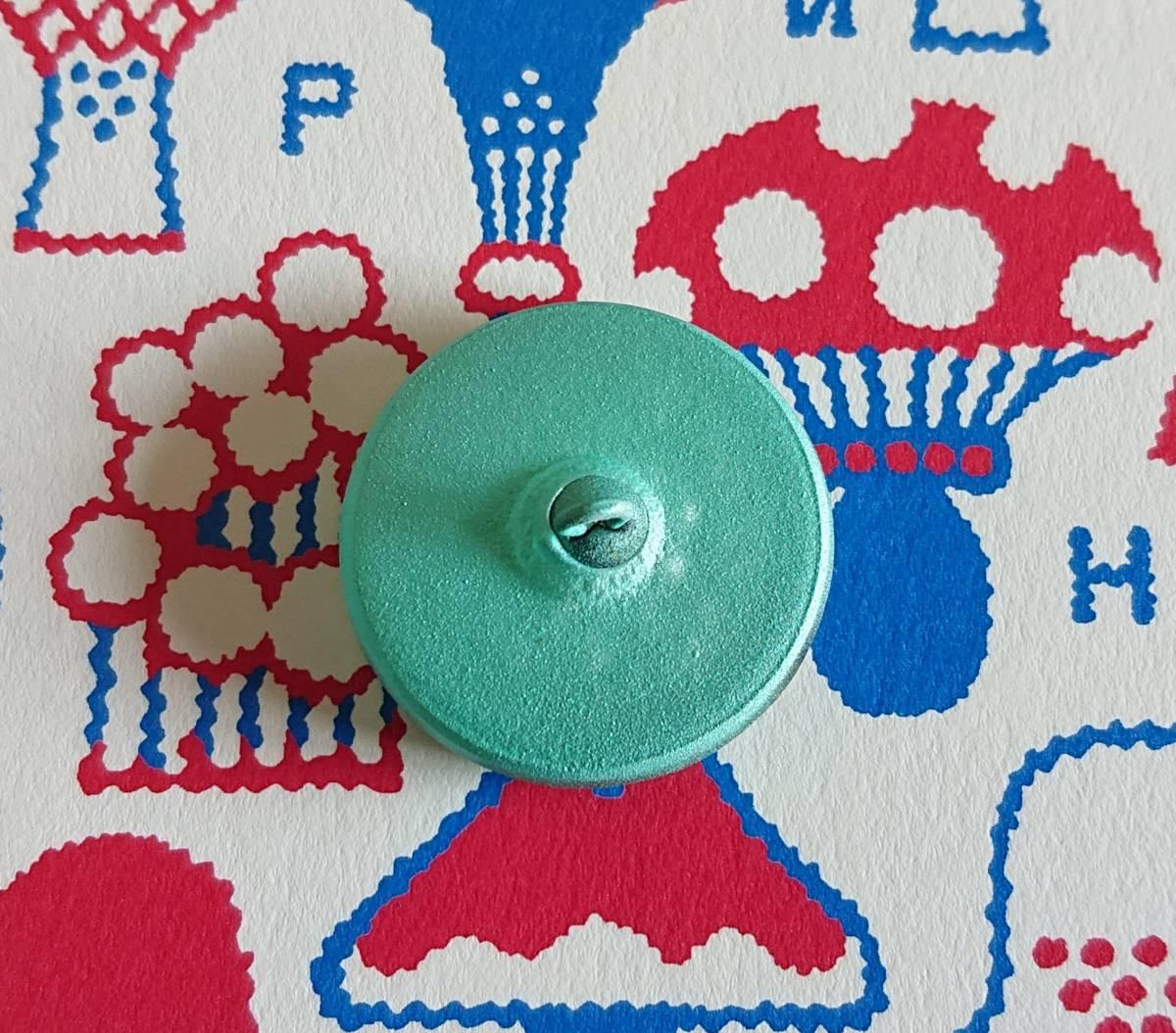 チェコ ガラスボタン27mm クリアターコイズブルー×シルバー/太陽と星の様なボタン コレクション・ハンドメイドに_画像7