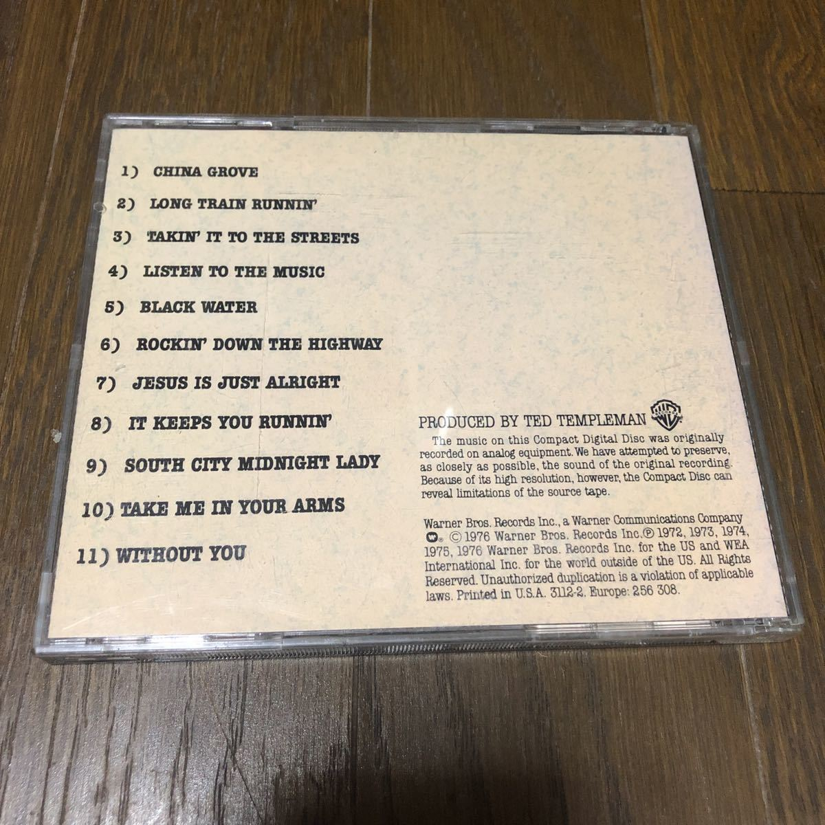 The Doobie Brothers Best Of The Doobies USA盤CD