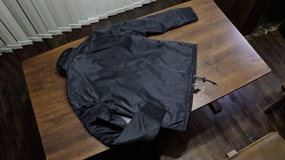希少 即完 バーバリーブラックレーベル MA-1 風 ジャケット アウター ブルゾン 黒 zip チェック柄 トップス 快適 M_画像5