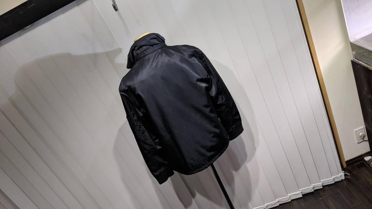 希少 即完 バーバリーブラックレーベル MA-1 風 ジャケット アウター ブルゾン 黒 zip チェック柄 トップス 快適 M_画像7