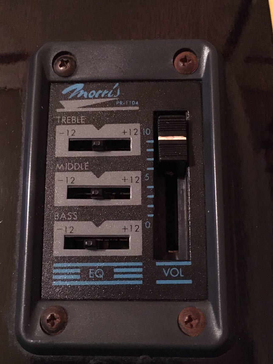 モーリス ランブラー 極上! Rumbler by Morris 良音 エレアコ MR-2K 超美品 メンテ済み! PR-1104 シースルーブラック VINTAGE ヴィンテージ_画像5