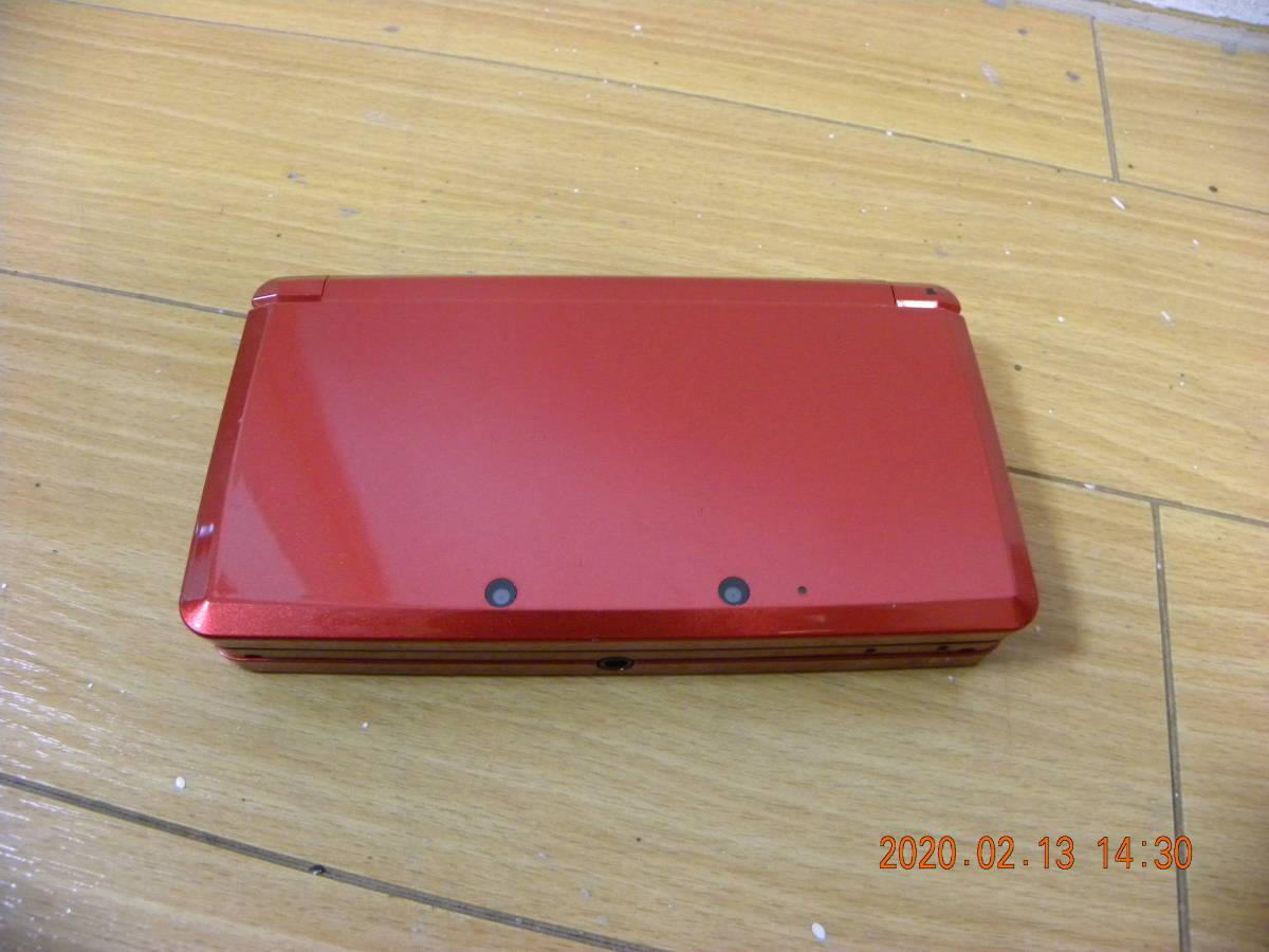 Nintendo 3DS レッド・動作確認済み・初期化可・本体のみ!!!